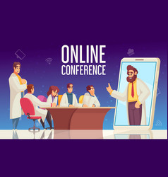 Flat medical conference composition vector