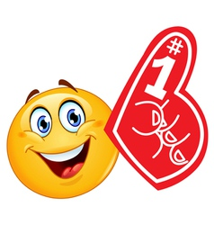 foam finger emoticon vector image vector image