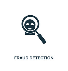 Fraud detection icon monochrome style design from vector