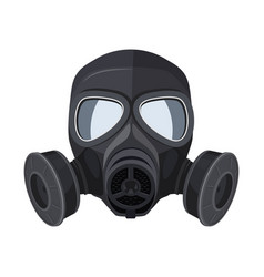 gas mask protection army equipment from toxic vector image