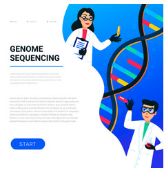 Genome sequencing concept scientists working in vector