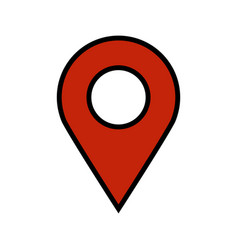 Geo location pin icon vector
