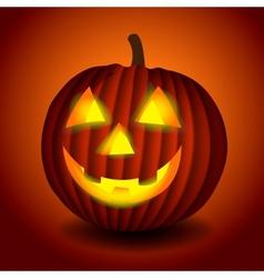 Halloween scary pumpking vector