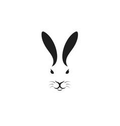 hare head logo vector image