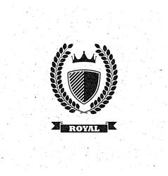 Laurel wreath shield and crown vector
