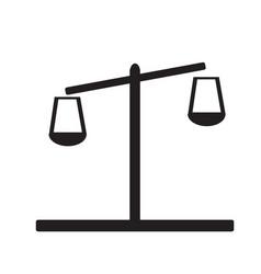 libra icon on white background flat style design vector image