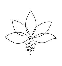 lotus icon logo outline vector image