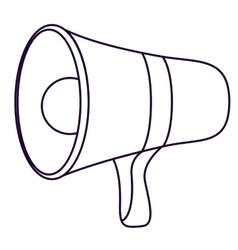 Megaphone speaker technology design vector