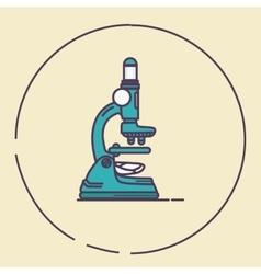 microscope vintage retro line art lab tools vector image