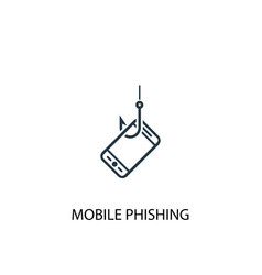 mobile phishing icon simple element vector image