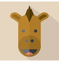 Modern Flat Design Horse Icon vector image