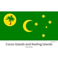 National flag of Cocos and Keeling Islands with vector