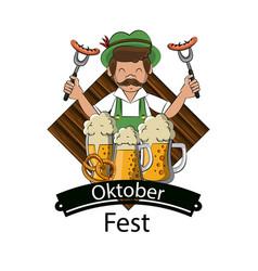 oktober festival concept vector image