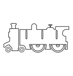 old steam locomotive icon outline style vector image