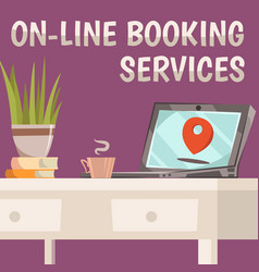 Online booking services composition vector