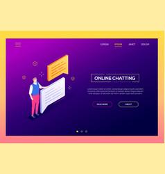 online chatting - modern isometric web vector image