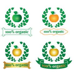 Organic food logo symbol vector