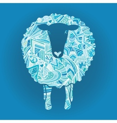Ornamental sheep vector image