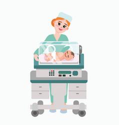 Pediatrician doctor vector