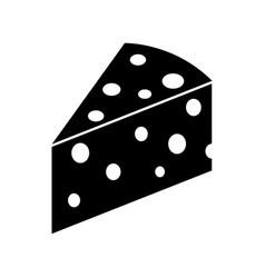 Piece cheese icon vector