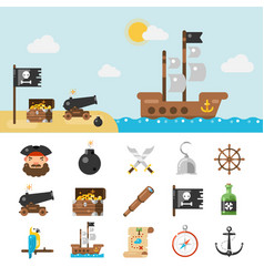 Pirate icons and full vector