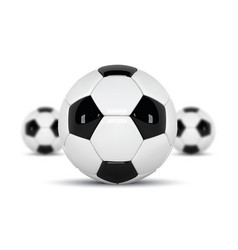 realistic soccer balls or football ball on white vector image