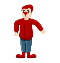 red clown icon cartoon style vector image