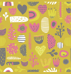 Scandinavian style kids abstract pattern vector