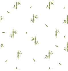 seamless pattern with bamboo on white background vector image
