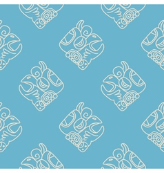 Seamless pattern with glyphs of vector