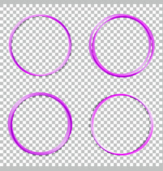 set collection of abstract round frames vector image