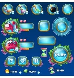 Set elements for Atlantis ruins GUI vector