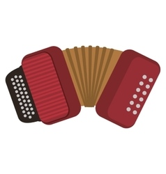 Single accordion icon vector