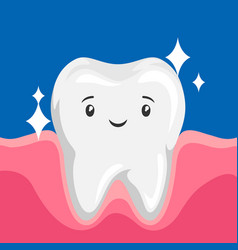 Smiling clean healthy tooth vector