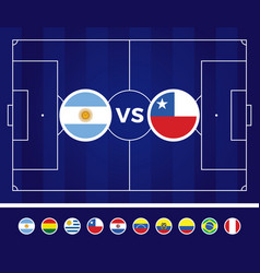 South america football 2021 argentina colombia vector