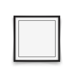 square black frame on white background vector image