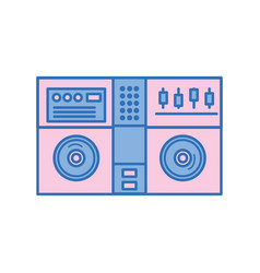 Stereo to play and listen to music vector