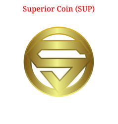 Superior coin sup logo vector