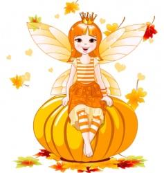 Thanksgiving fairy vector