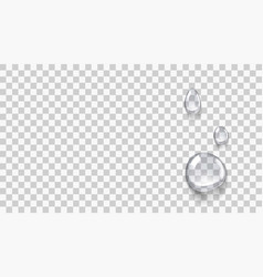 transparent clear micellar water or essence drops vector image