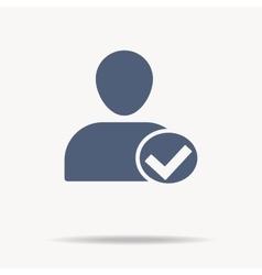User icon - approve accept icon flat icon vector