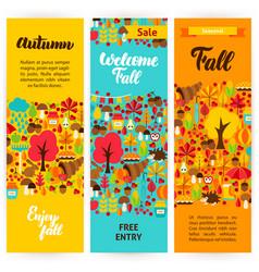 autumn vertical flyers vector image vector image