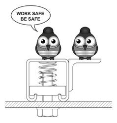 Construction work safe vector