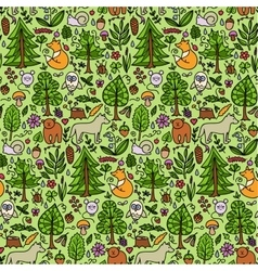 Forest color seamless pattern vector