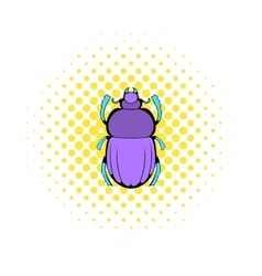Scarab icon in comics style vector