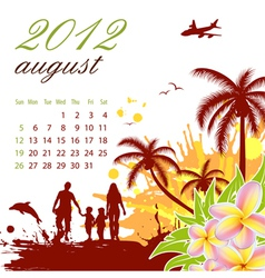 calendar for 2012 august vector image vector image
