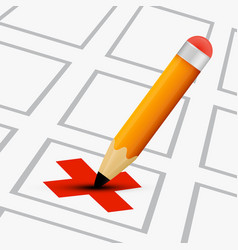 check list with pencil vector image vector image