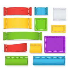 color label fabric blank collection vector image vector image