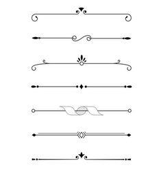 decorative elements borders and text dividers vector image