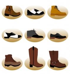 fashion man shoes vector image